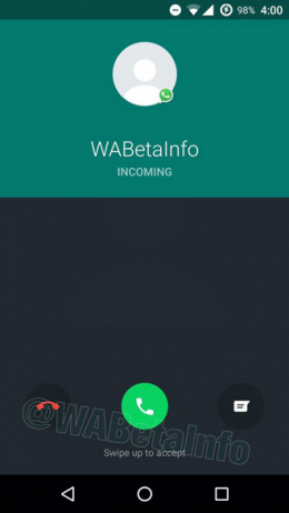 WhatsApp 2.17.163 belfunctie interface