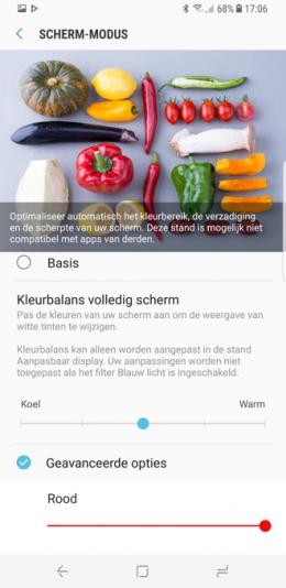 Galaxy S8 kleurbalans