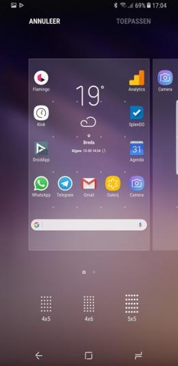 Galaxy S8 rastergrootte