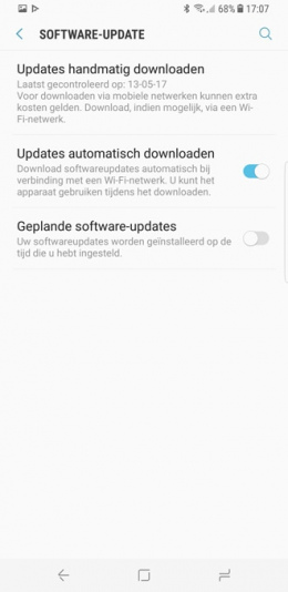 Galaxy S8 software-update