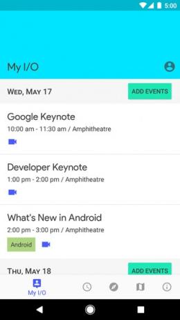 Google I/O 2017 app