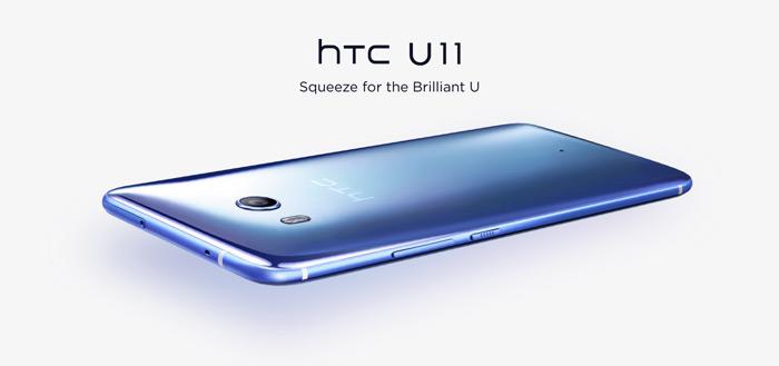 HTC teast nieuwe functies Edge Sense voor HTC U11