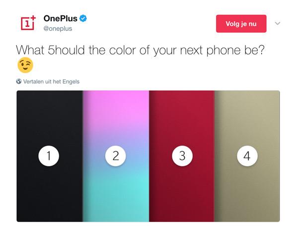 OnePlus 5 kleuren