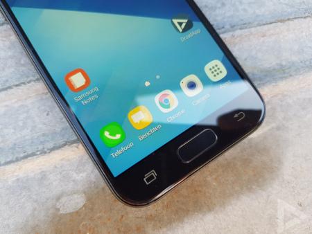Samsung Galaxy A3 2017 vingerafdrukscanner
