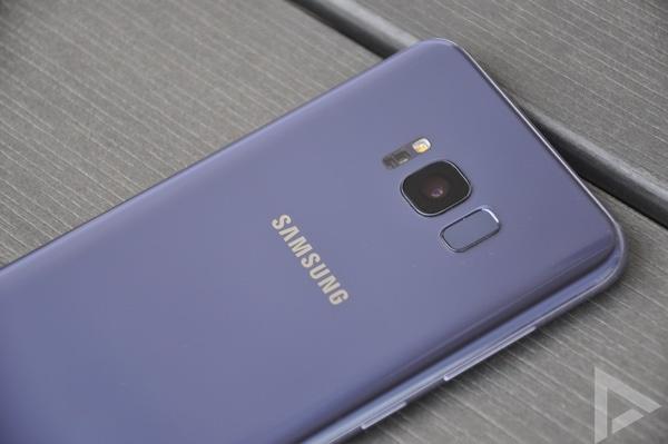 Samsung Galaxy S8+ vingerafdrukscanner