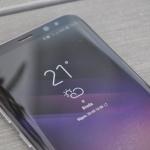 Samsung Galaxy S8+ weer-widget