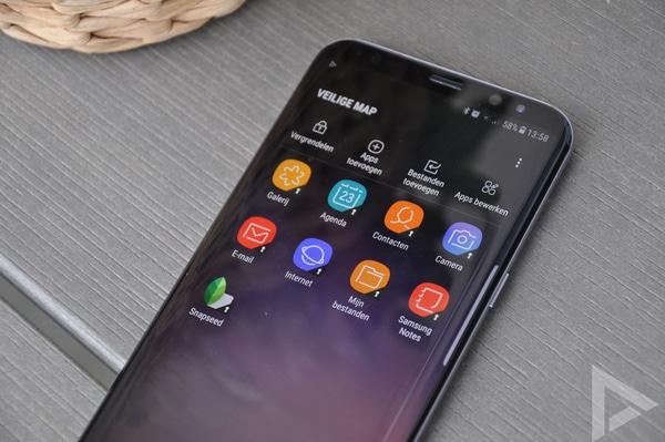 Samsung Galaxy S8+ veilige map