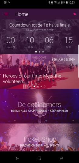 Songfestival 2017 app