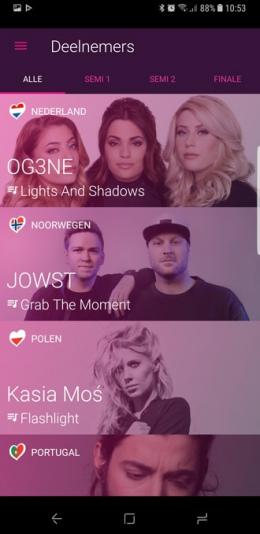 Songfestival app 2017