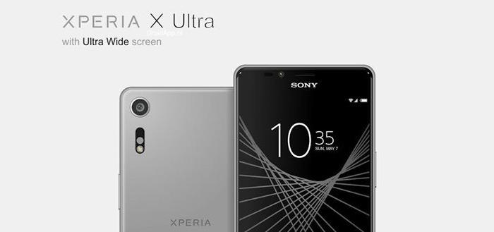 Sony Xperia X Ultra renders tonen nieuwe smartphone met 21:9 display