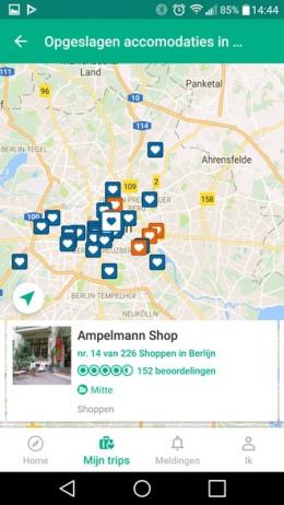 TripAdvisor kaart