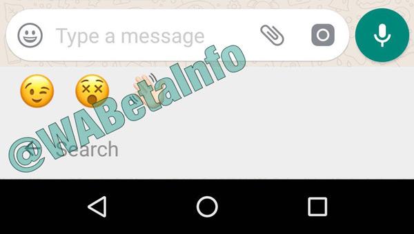 WhatsApp zoekfunctie emoji