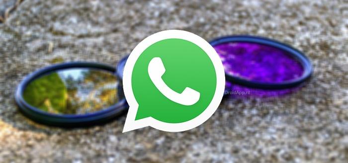 WhatsApp 2.17.297 voegt filters toe voor je foto's: zo gebruik je ze
