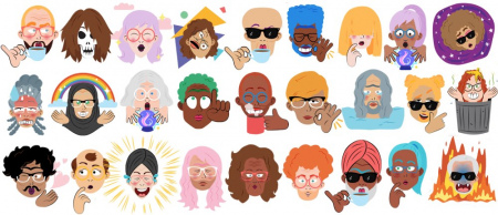 Google Allo selfie stickers