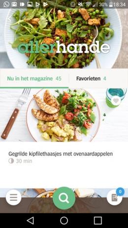 Appie app 5.0 recepten