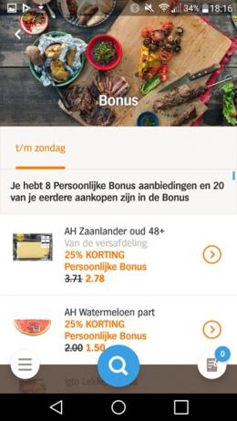 Appie App bonus