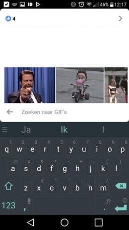 Facebook GIF reactie