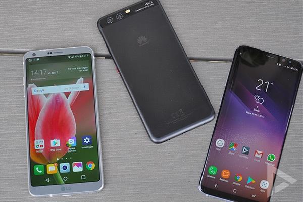 LG G6 Huawei P10 Galaxy S8+