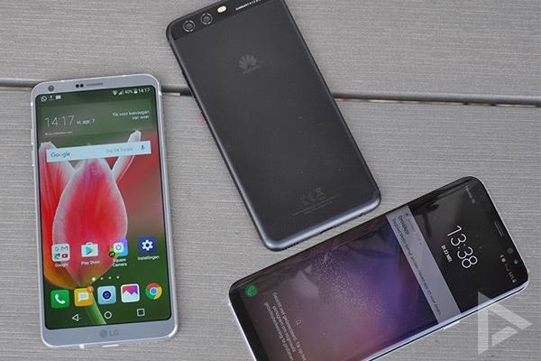 Galaxy S8 LG G6 Huawei P10 vergelijking