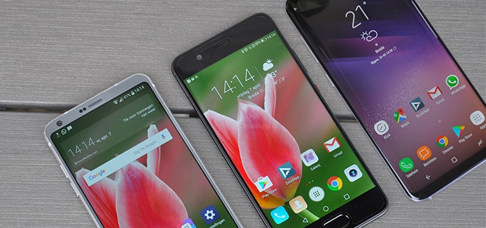 Samsung Galaxy S8 LG G6 Huawei P10 vergelijking