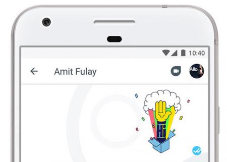 Google Duo Allo oproepknop