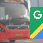 Google Maps laat openbaar vervoer in buurt van plaatsen zien