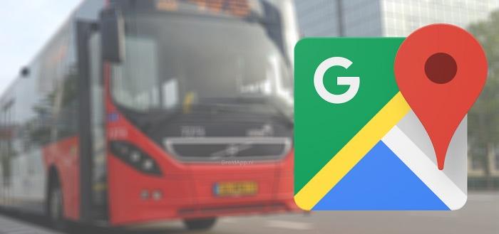Google Maps gaat je vragen hoe druk je trein is