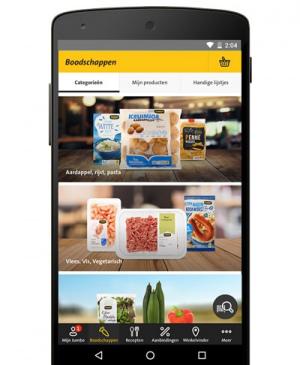 Jumbo app navigatiebalk