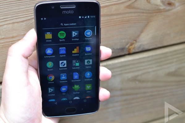 Moto G5 menu