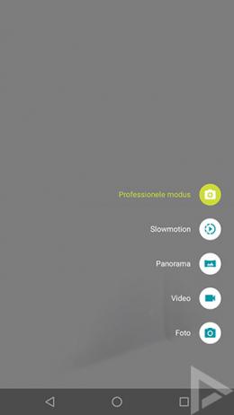 Moto G5 camera professionele modus