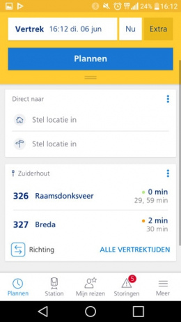 NS Reisplanner Xtra 5.0 app