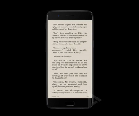 OnePlus 5 reading mode