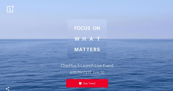 OnePlus 5 aankondiging 20 juni