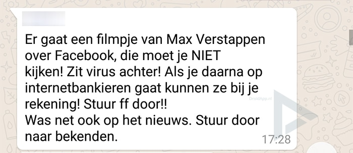 WhatsApp Max Verstappen