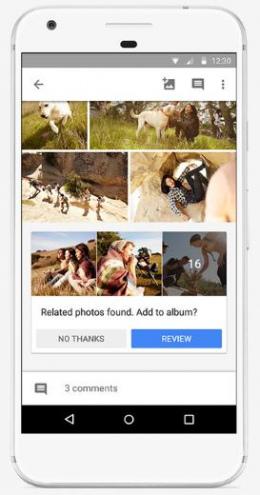 Google Foto's deel suggesties