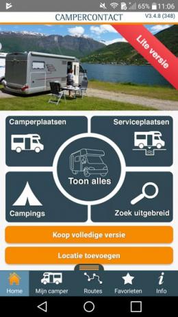 Campercontact app