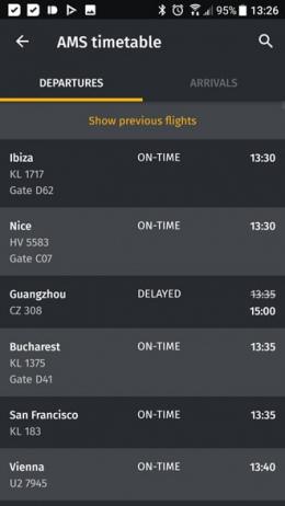 Flio vliegveld vertrektijden