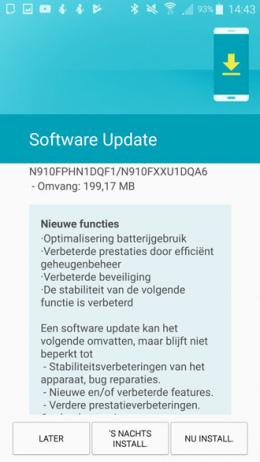 Galaxy Note 4 beveiligingsupdate juli 2017
