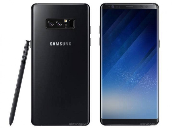 Galaxy Note 8 persrender