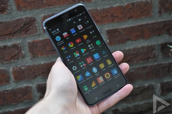 HTC U11 menu