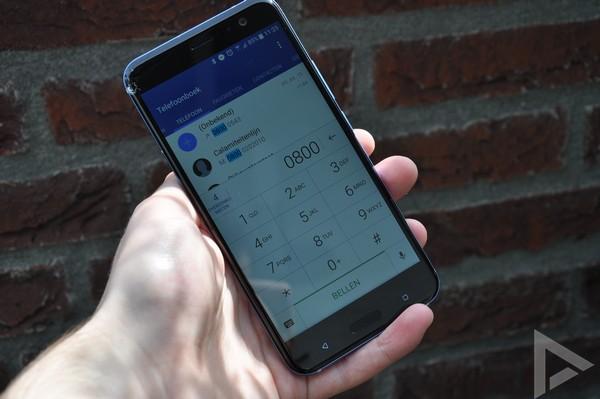 HTC U11 dialer