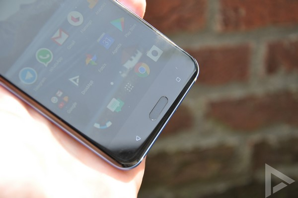HTC U11 vingerafdrukscanner