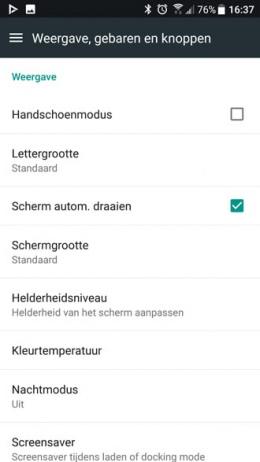 HTC U11 handschoenmodus