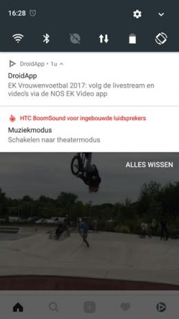 HTC U11 muziekmodus