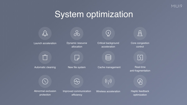 MIUI 9 System Opimization
