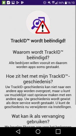 Sony TrackID stopt