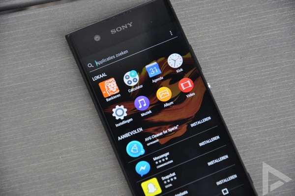 Sony Xperia XA1 interface