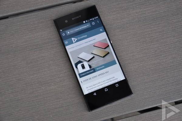 Sony Xperia XA1 browser
