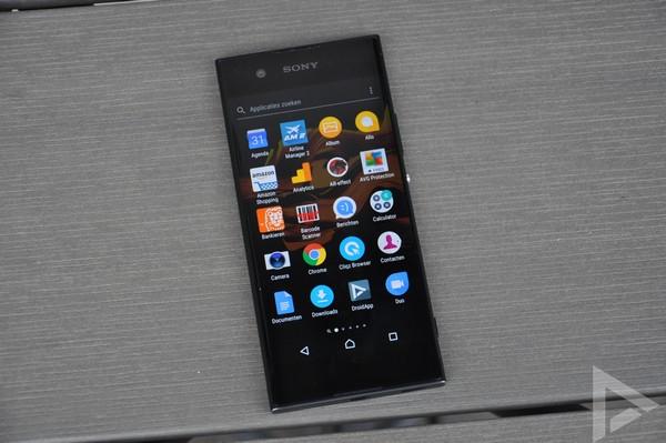 Sony Xperia XA1 menu