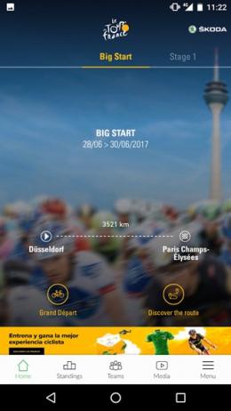 Tour de France 2017 app
